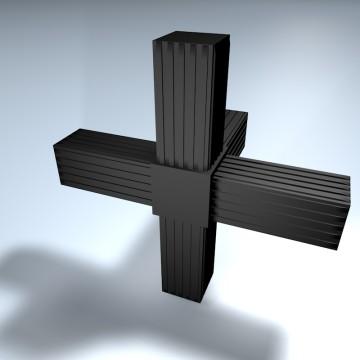 steckverbinder kreuz 1 abgang online shop alu. Black Bedroom Furniture Sets. Home Design Ideas
