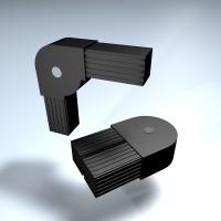 Steckverbinder Winkel drehbar 25 mm 0-190°