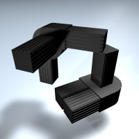 Verbinder Winkel drehbar 1 Abg. 25 mm 0-190°