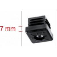 Endkappe 25x25 mm m. Gewinde M8